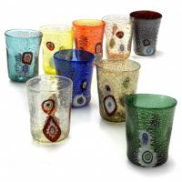 bicchiere-vetro-goto-di-murano-colori-assortiti-set-6-pezzi